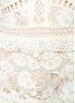 True Decadence Dantelli Fırfırlı Midi Elbise Beyaz